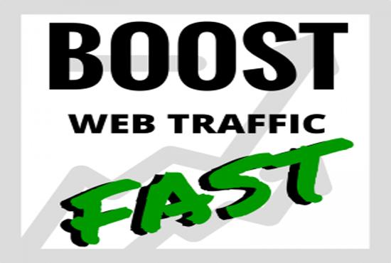 Drive 5k targeted web traffic,  organic real visitors
