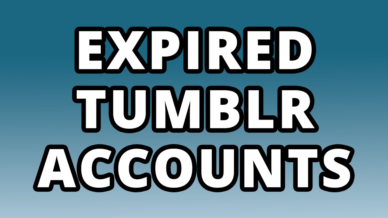 400 Expired Tumblr Profiles PA 27+ (unregistered)