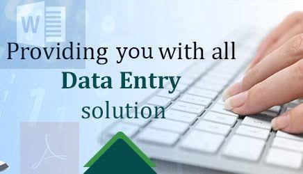 Data Entry. to save your time give me the data and we will enter it for you.