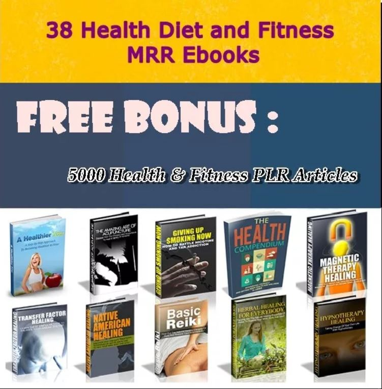 28,000 PLR/MRR - Articles 38 -EBooks On Medicine,Health,Fitness,Nutrition for $5