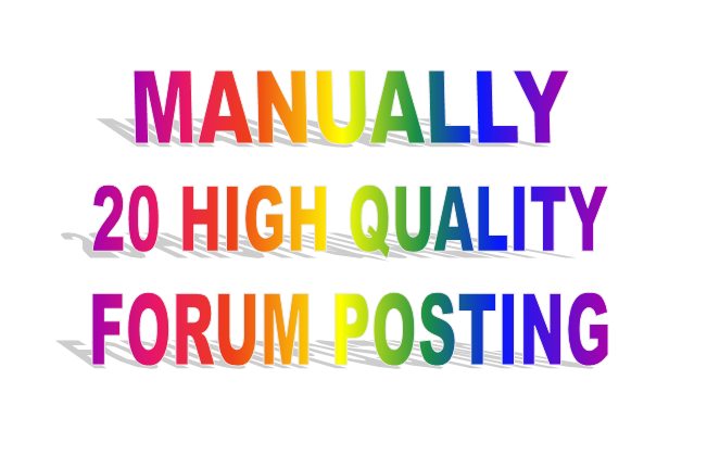 Do Manually General Forum Posting Link
