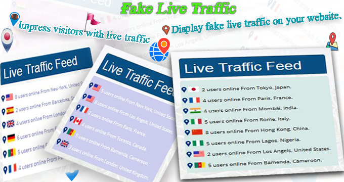 Fake Live Traffic Feed