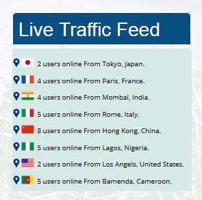 Fake Live Traffic Feed