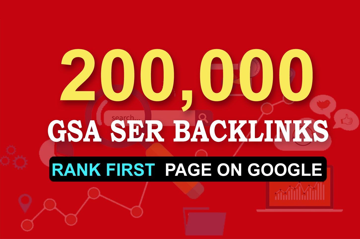FULL GSA SER LINKS BLAST 200,000 BACKLINKS for