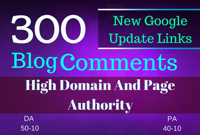 do manually 300 blog comments on actual page rank high dapa