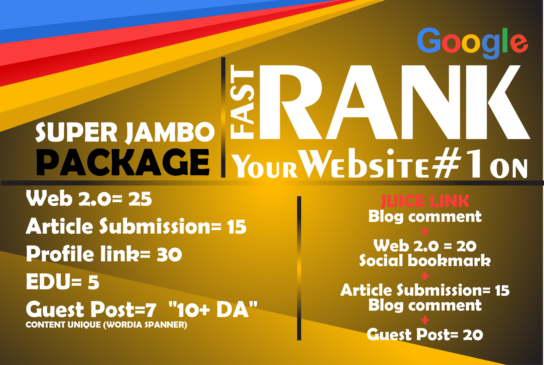Jumbo PACKAGE - Manual Job - Latest Google Algorithm Breaker - Improve Your Ranking Towards Page 1