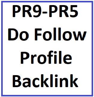 SEO Bump get 60 PR9 to PR5 Do Follow Profile Backlink...