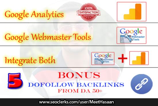 Will Setup Google Analytics And Webmaster Tools Properly