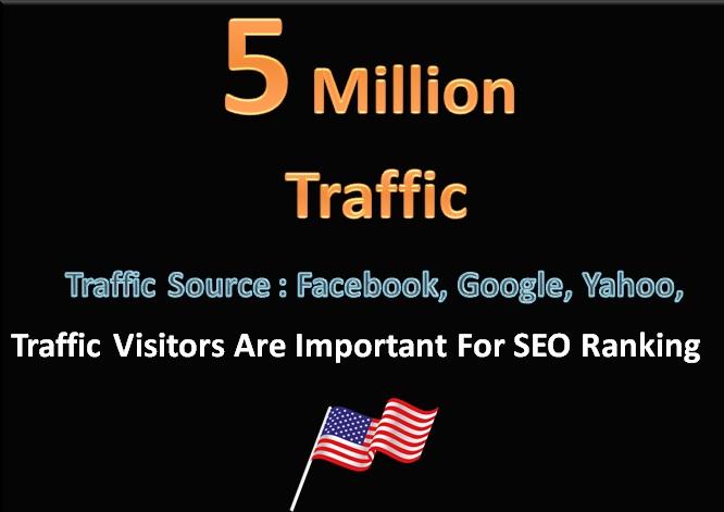 5 Million Traffic Search Engine Visitors Social Media