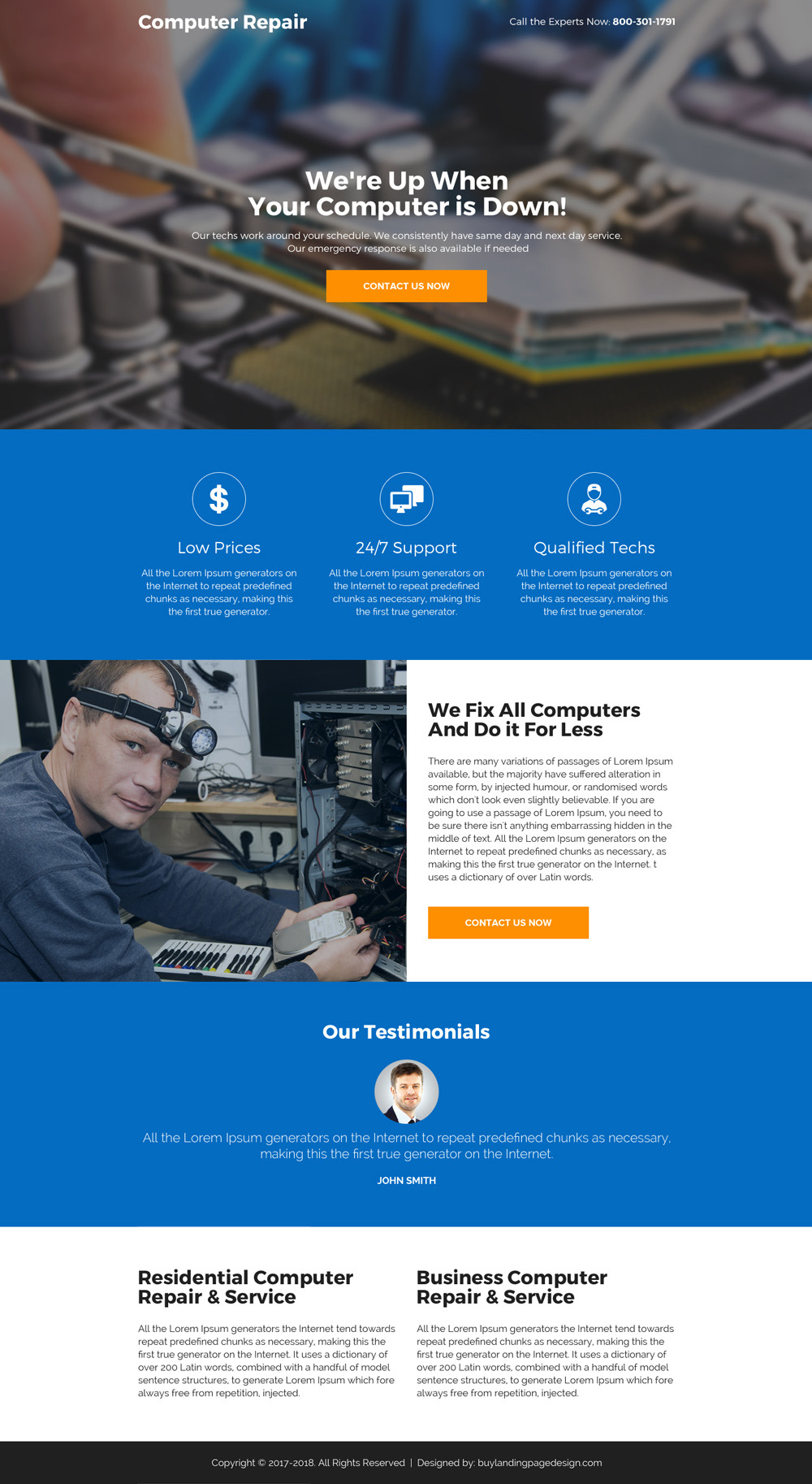 Custom landing page design as per your custom requirement