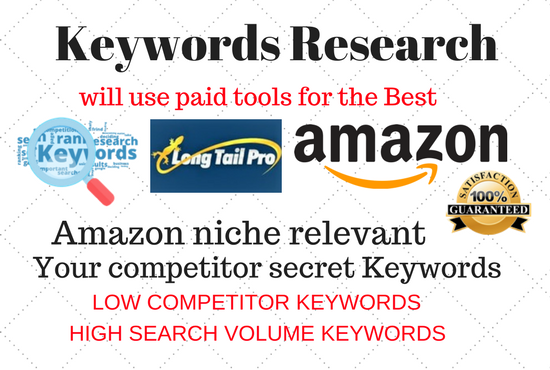 Do keyword research and competitor analysis for your website or Amazon niche