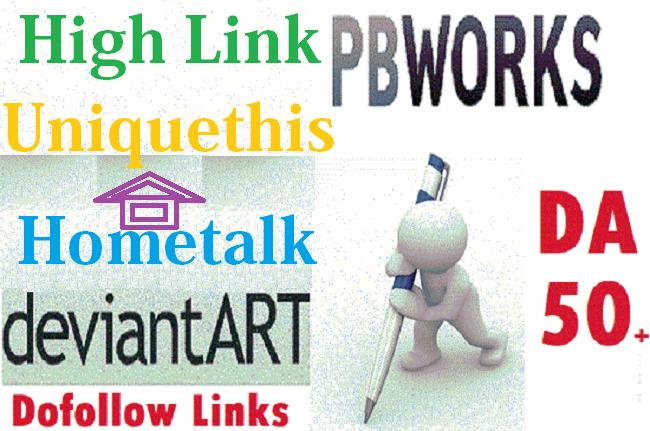 Write and Publish Poost On pbworks,  bloglovin,  format. com with High Backlink DA 50 Dofollow Sites