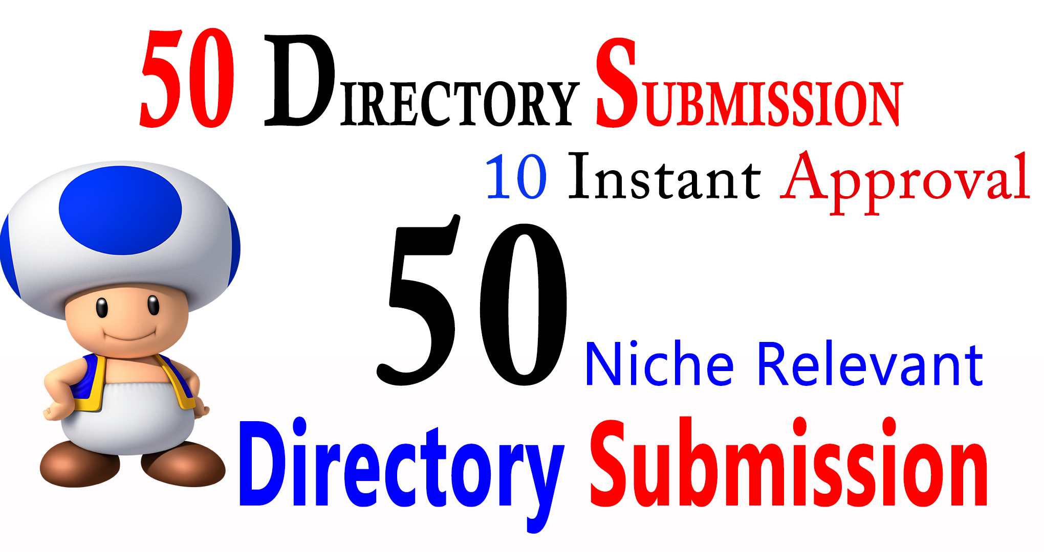 Submit 50 high PR Niche Directory Submission backlink for you