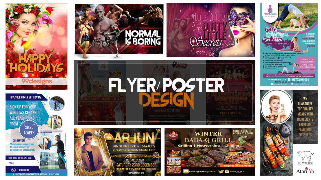Design Professional Flyer,  Poster,  Leaflet or Brochure Design
