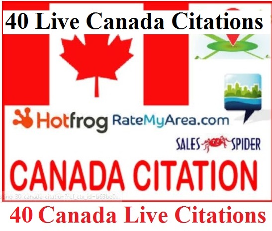 Create 40 Canada Local Citations for Google Place Local SEO