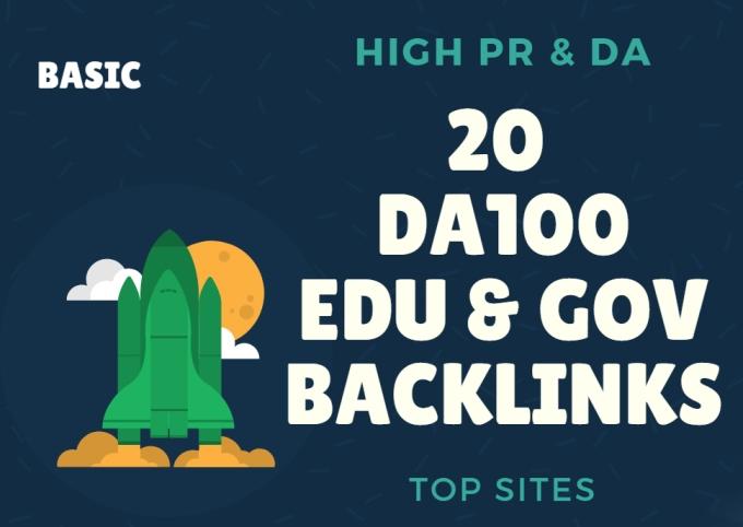 I Do 20 Unique Da100 Edu Gov Backlinks For Seo Ranking