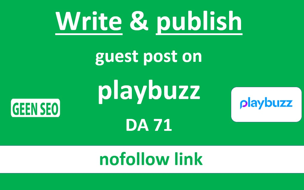 Write and publish guest post on playbuzz DA71