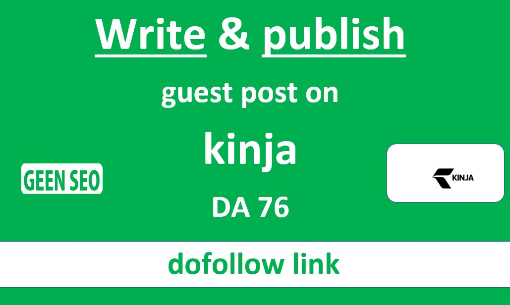 Write and publish guest post on kinja DA76