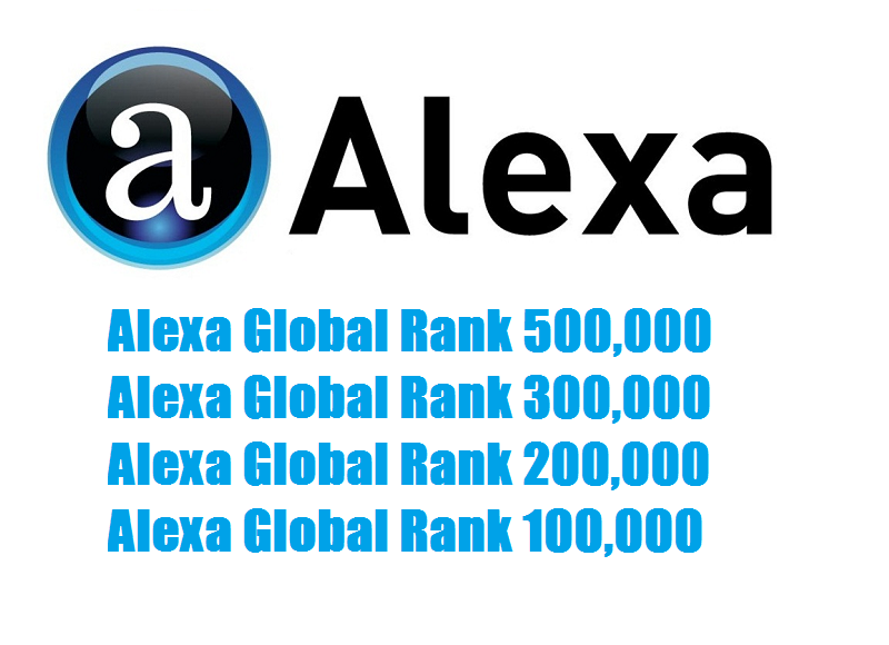 Improve Alexa Global Rank TOP 500,000 within a month