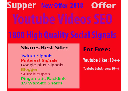 CPA Marketing Youtube Video Seo Best Package 700 Social Signals