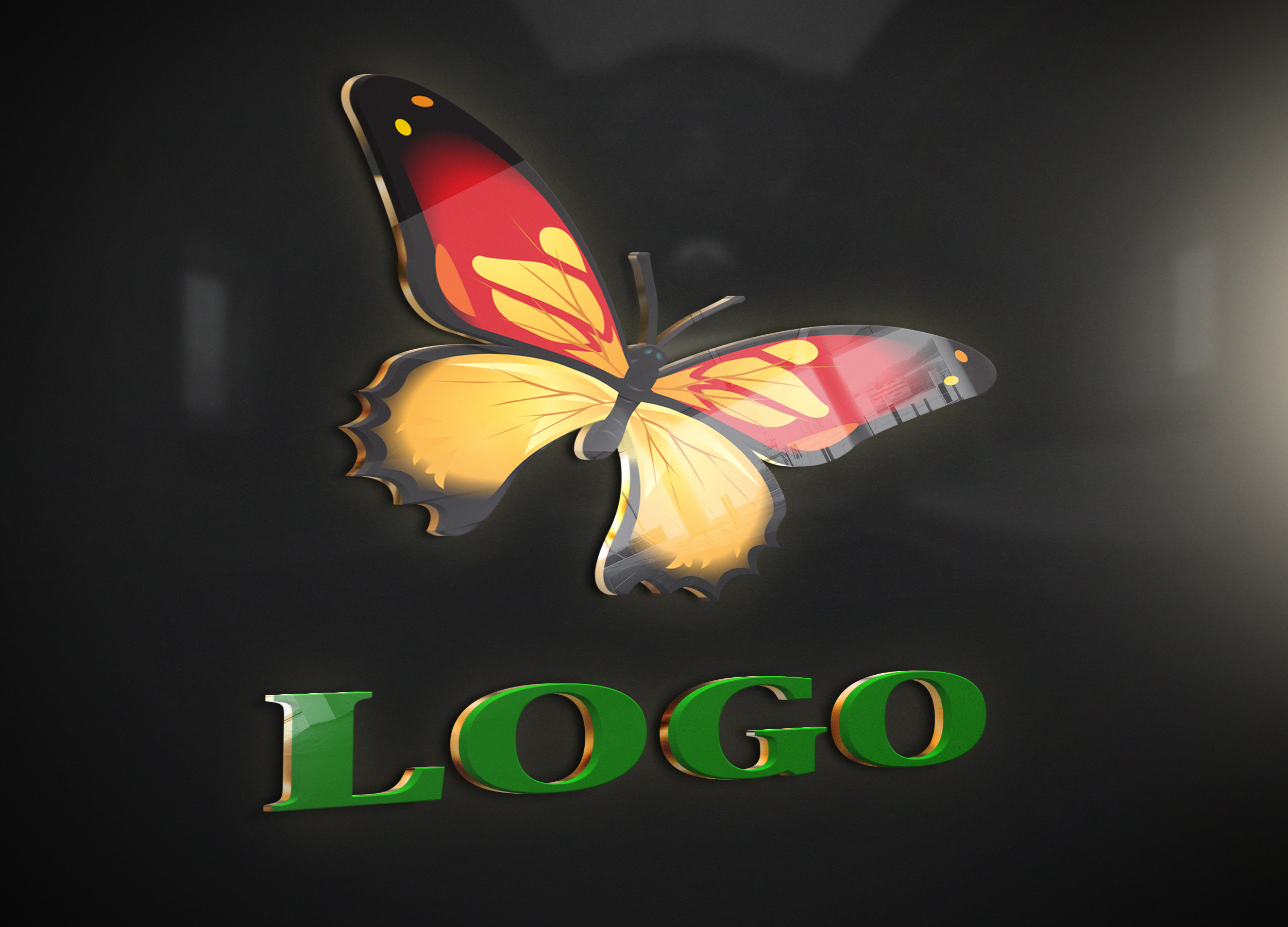 convert your transparent logo into 3D MockUp design - sample no10