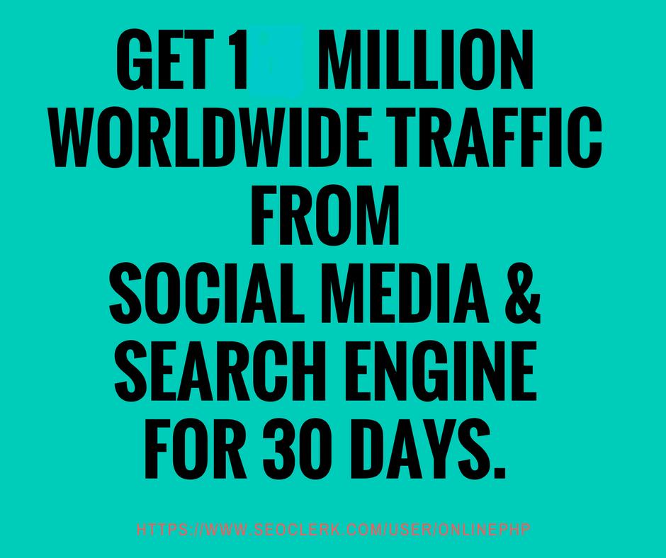 for 13 dollar get half a million Worldwide Traffic