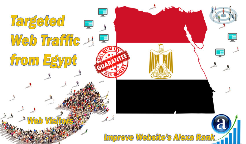 Egyptian web visitors real targeted high-quality web traffic from Egypt