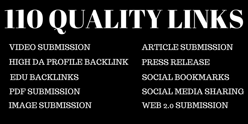 Create Manually 110 High Quality Links For Maximum Results