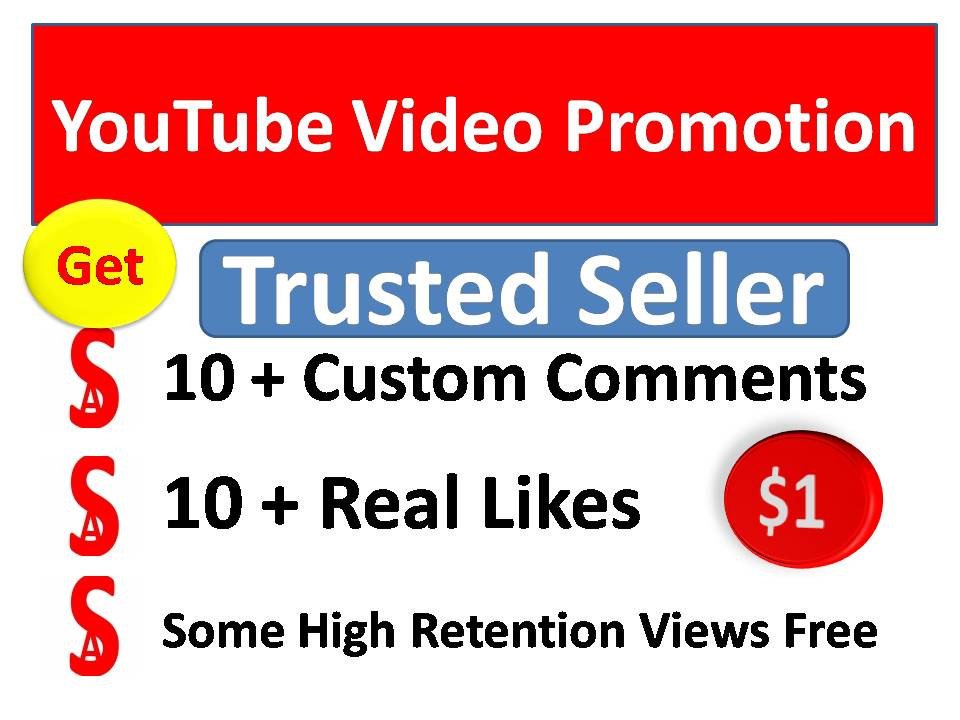 Instant start 11+ Organic Video Promotion with best quality