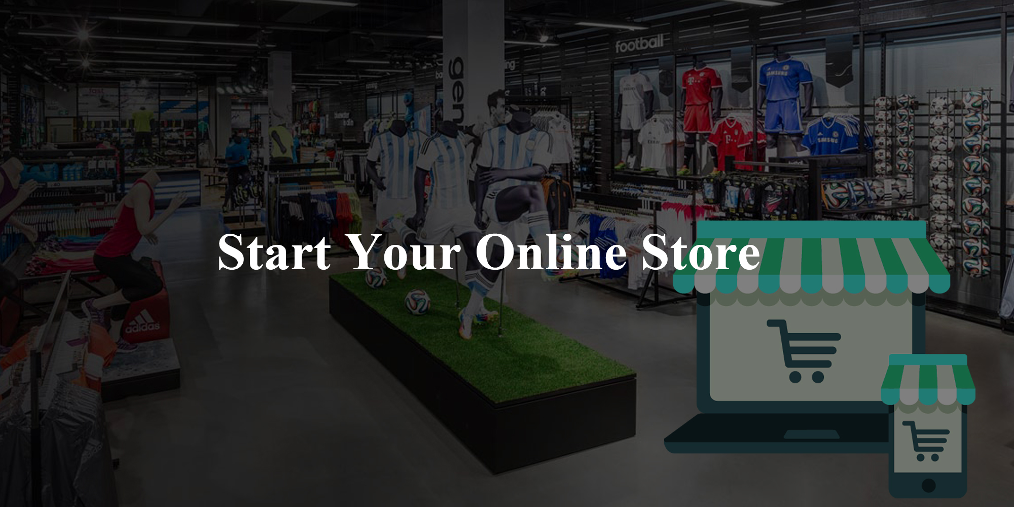 Create your online store to showcase your products online with their professionalism