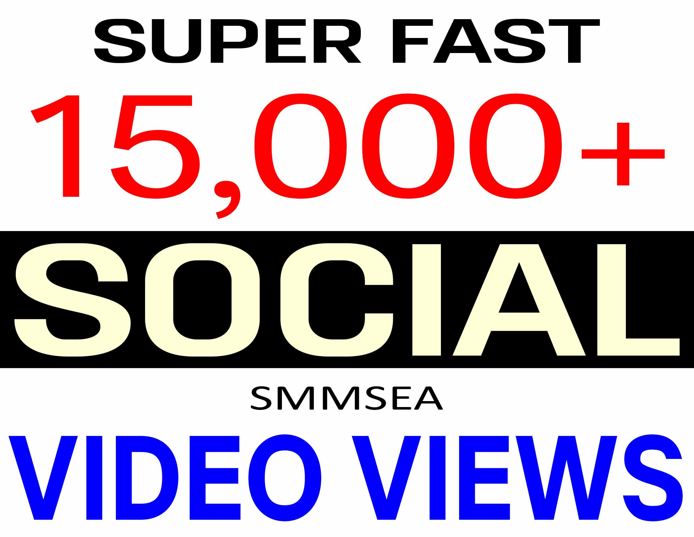ADD 15,000+ SOCIAL VIDEO VIEWS REAL ORGANIC PROMOTION,  HIGH QUALITY WITH NON DROP GUARANTEED