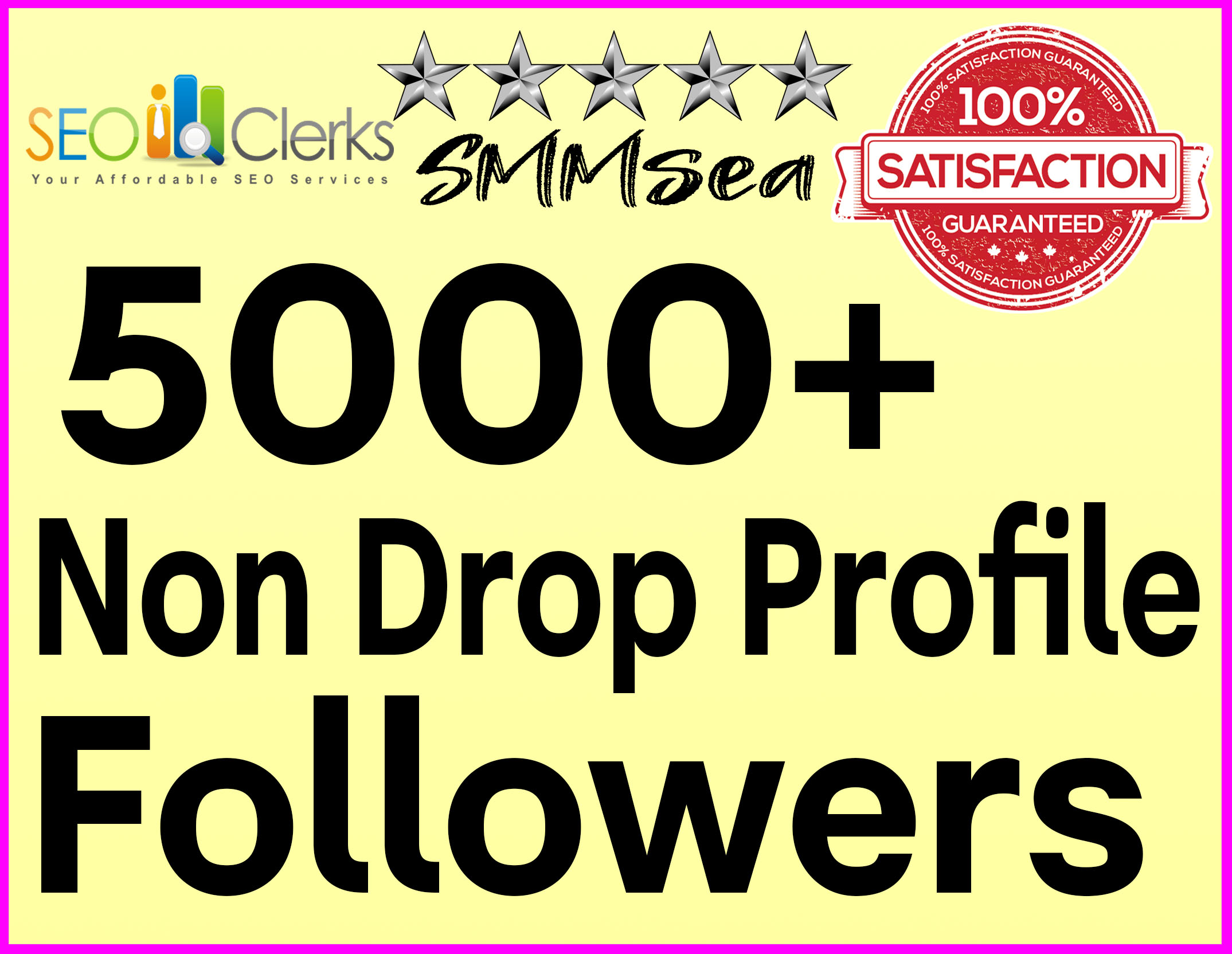 Add 5000+ Profile Followers High Quality & Non Drop Within 24 hours