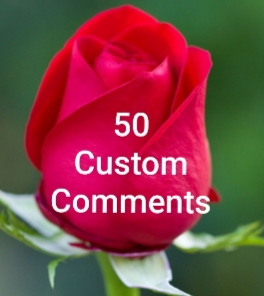 50 Custom comments with profile picture supper fast delivery