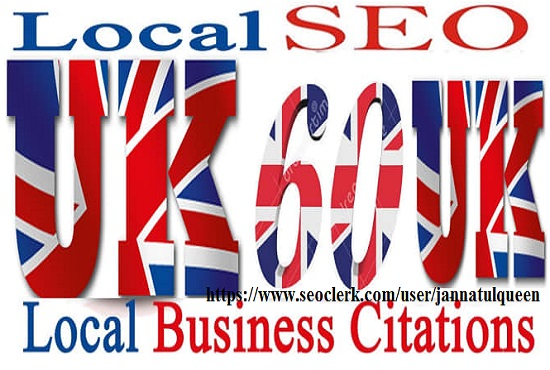 Create 40 Live Citation for Local UK Business Listing