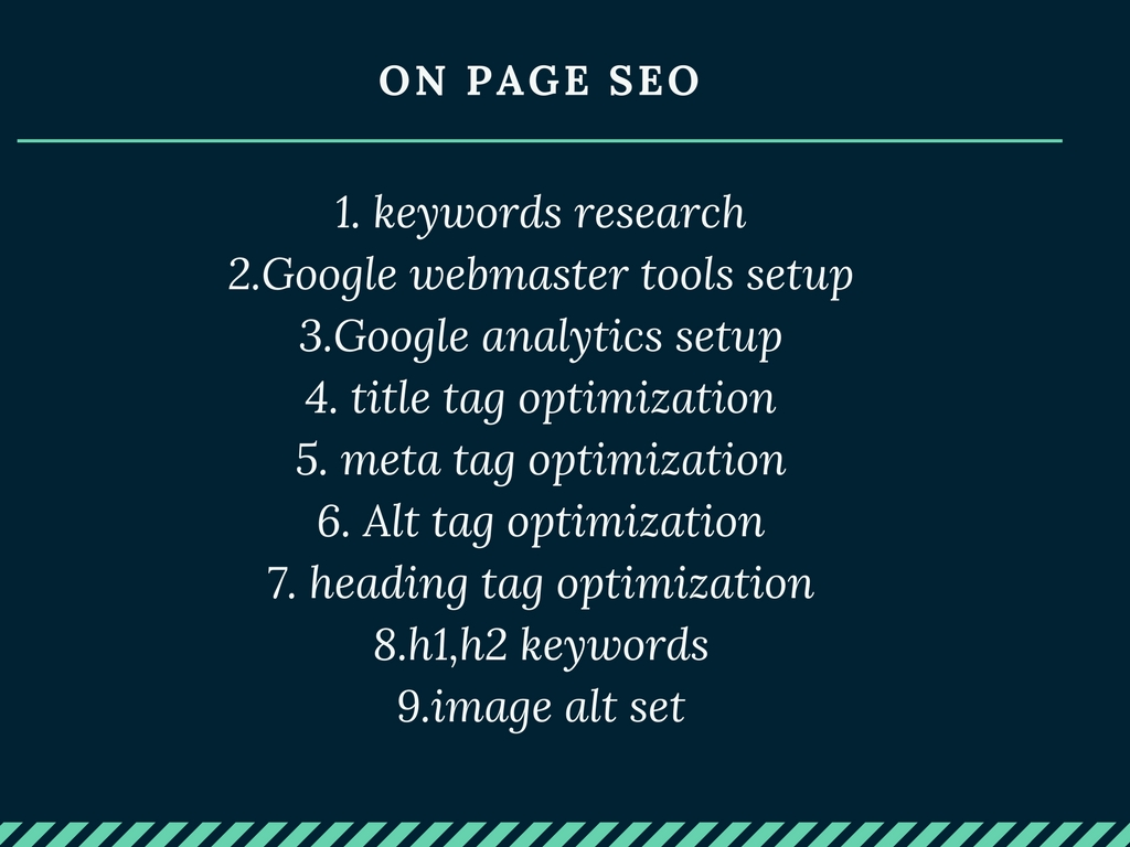 Do Full On Page SEO.