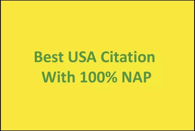 I can do 100 USA local citation for your business