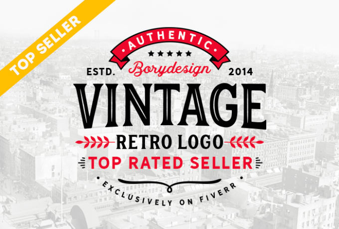 Create Retro Vintage Logo Design Within 24 Hours