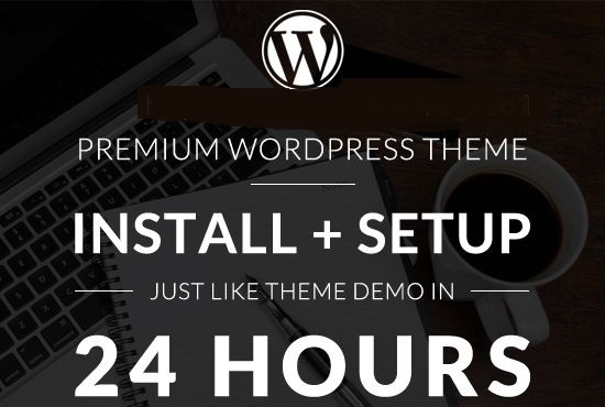Will Do Install Your Wordpress Theme And Setup Like Demo