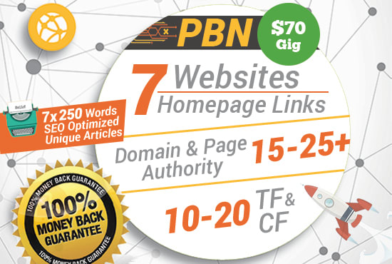 Give 7 high da pa homepage backlinks