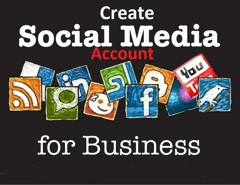 Will Create 25 Top Social Profiles For Your Business Or Brand