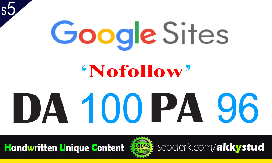 "write and publish UNIQUE guest post on ""Sites.google"" DA-100"