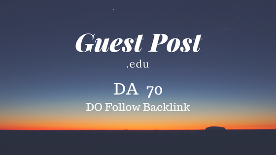High Authority Educational Guest Post DA 70