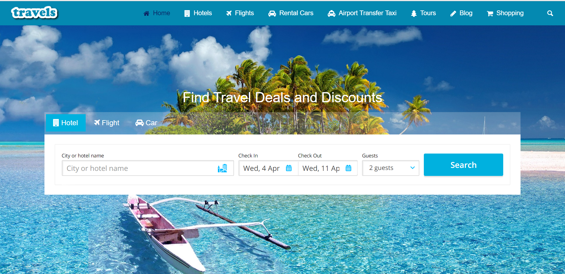 Travel affiliate website design