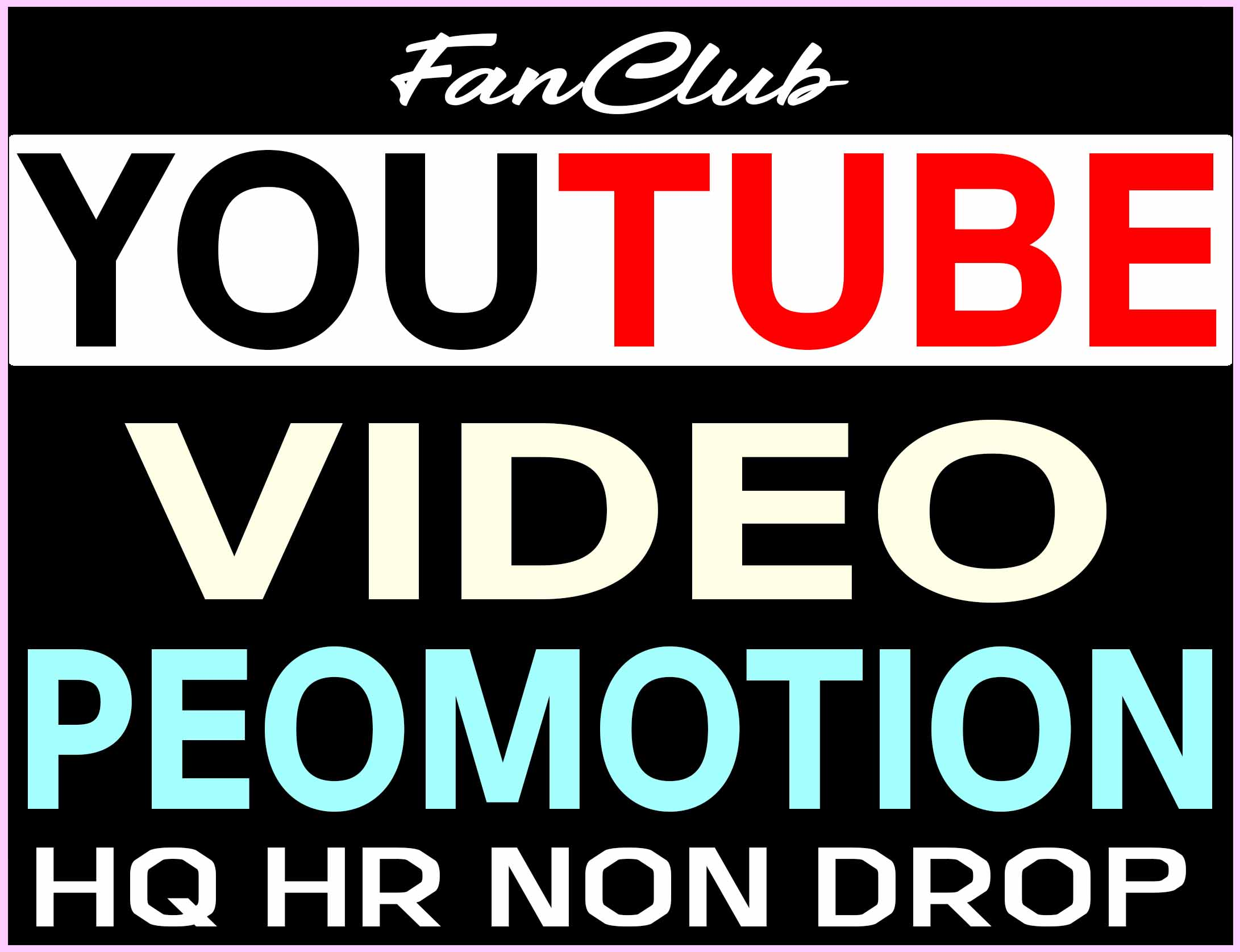 YOUTUBE VIDEO PROMOTION REAL ORGANIC AND SUPER FAST WITH NON DROP GUARANTEED