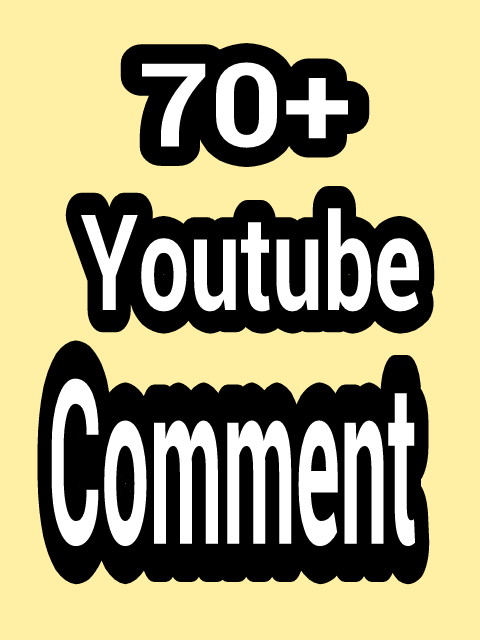 70+ permanent and verified  you-tube cus-tom com-ments with fast delivery