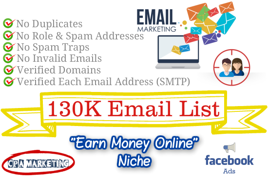 Provide You 130k Laser Targeted B2c Email Addresses With Names
