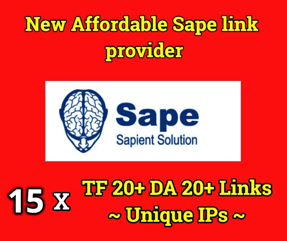 POWERFUL 15x TF 20 DA 20 Google Indexed Sape Links