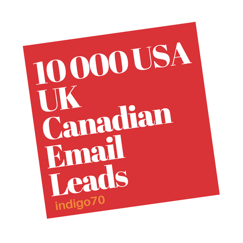 10 000 USA UK Canadian Email Leads