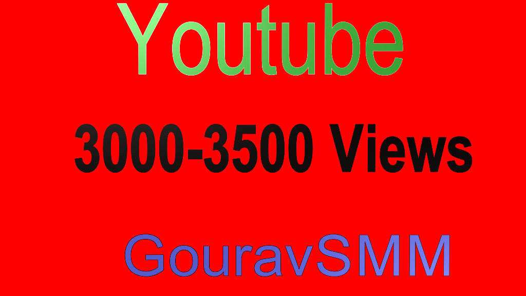 Youtube 3000 Views High Quality