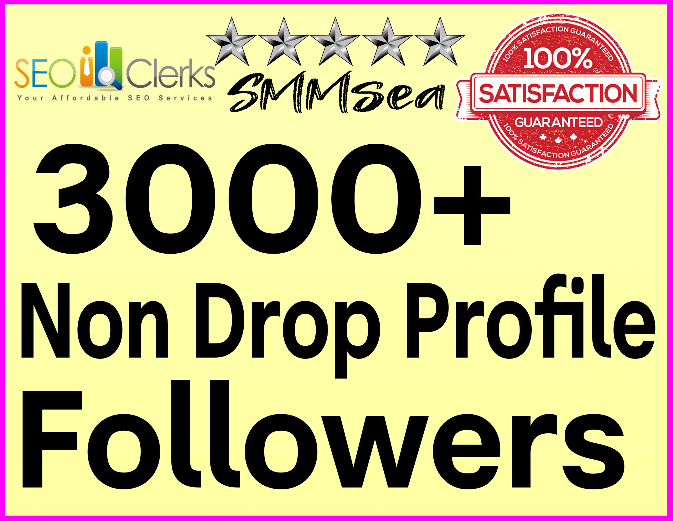 Add 3000+ Profile Followers High Quality + Non Drop Guaranteed